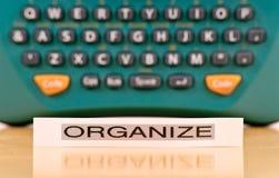 Halten organisiert Lizenzfreie Stockbilder