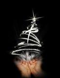 Halten Sie abstrakten Weihnachtsbaum an stock abbildung