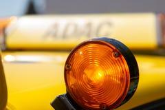 Halten Sie Auto von ADAC instand Stockbild