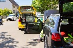 Halten Sie Auto von ADAC instand Stockfoto