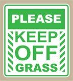 Halten Sie bitte weg vom Gras-Zeichenvektor Stockbild