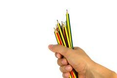 Halten Sie Bleistift Lizenzfreie Stockfotos