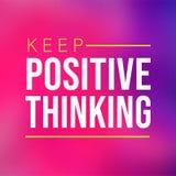 Halten Sie das Positivdenken Motivationszitat mit modernem Hintergrundvektor lizenzfreie abbildung