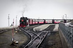 Halten Sie den Zug auf, gebrochen, Harzberg, Deutschland Stockfoto