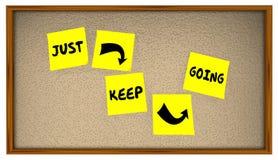 Halten Sie einfach gehenden Fortschritt, vorwärts sich zu bewegen erzielen Ziel lizenzfreie abbildung