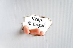 Halten Sie es Gesetztextkonzept lizenzfreie stockbilder