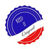 Halten Sie es ursprünglicher Logo Stamp Icon Lizenzfreies Stockfoto
