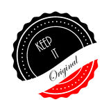 Halten Sie es ursprünglicher Logo Stamp Icon Stockfotografie