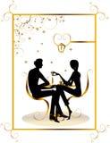 Halten Sie Gaststätteaufenthaltsraumkaffee-Frauen Abbildung VE ab Lizenzfreies Stockbild