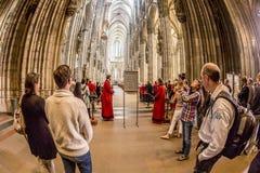 Halten Sie gehalten im zentralen Kirchenschiff instand Lizenzfreies Stockbild