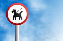 Halten Sie Hund auf Blei lizenzfreie abbildung