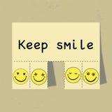 Halten Sie Lächeln Lizenzfreie Stockfotos