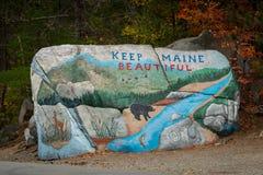Halten Sie Maine Beautiful Rock Lizenzfreie Stockbilder