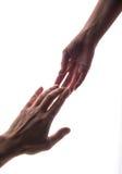 Halten Sie meine Hand an Stockfotografie