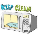 Halten Sie Mikrowelle sauber lizenzfreie abbildung