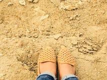 Halten Sie Ruhe und lieben Sie Schuh Lizenzfreie Stockfotografie