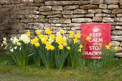 Halten Sie ruhig und stoppen Sie Fracking Lizenzfreies Stockbild