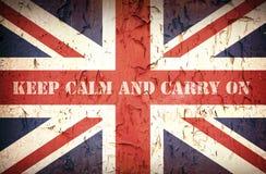 Halten Sie ruhiges Union Jack Stockfotos