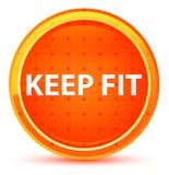 Halten Sie Sitz-natürlichen orange runden Knopf lizenzfreie abbildung
