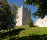 Halten Sie Turm mittelalterlichen Schlosses Celje in Slowenien Lizenzfreie Stockfotografie
