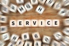 Halten Sie Vorfeldwartungsdienst-Würfelgeschäftskonzept instand Lizenzfreie Stockbilder