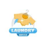 Halten Sie Wäschereilogo-Emblemausweis instand Lizenzfreie Stockbilder