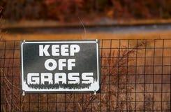 Halten Sie weg vom Gras Lizenzfreies Stockbild