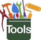 Halten Sie Werkzeuglogo instand lizenzfreie abbildung