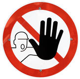 Halten Sie Zeichen ab Lizenzfreies Stockfoto