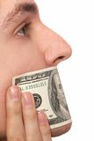 Halten von Dollarruhe Lizenzfreie Stockbilder