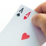 Halten von Karten Lizenzfreie Stockfotos