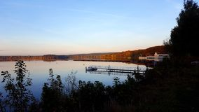 Halterner Stausee. A picture of the Halterner Stausee in dawn Stock Photo
