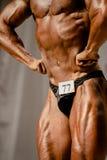 Halterofilista do atleta do close up Imagens de Stock Royalty Free