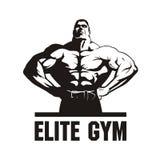 Halterofilista, molde do logotipo do gym Fotografia de Stock Royalty Free