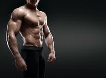 Halterofilista muscular considerável Fotos de Stock
