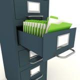 Halterung des Dossiers 3d auf weißem Hintergrund Lizenzfreie Stockbilder