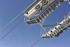 Halterung des Seils der Drahtseilbahn stockfotos
