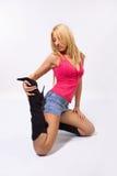 Haltung auf dem Fußboden Lizenzfreies Stockfoto