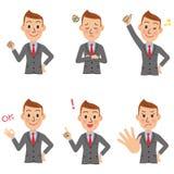Haltung des Büroangestellten Stockfoto