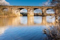 Haltwhistle Railway Viaduct Royalty Free Stock Photos