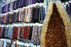 Halvädla gemstones royaltyfria foton