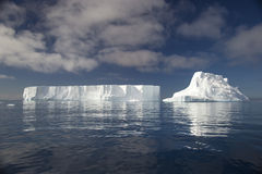 Halvö Antartica för Tempanos en-la Royaltyfri Fotografi