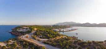 Halvö av Kavouri, Aten - Grekland arkivbilder