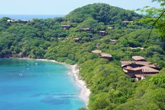 Halvön Papagayo i Guanacaste, Costa Rica Arkivfoto