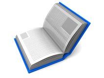 halvöppen bok Fotografering för Bildbyråer