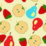 Halv äpple- och päronmodell Arkivbilder