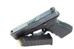 Halv automatisk pistol Royaltyfri Foto