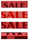 Halv baneruppsättning för Retro försäljningar. vektor illustrationer