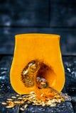 Halv Butternutsquash Fotografering för Bildbyråer