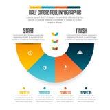 Halv cirkelrulle Infographic Royaltyfri Foto